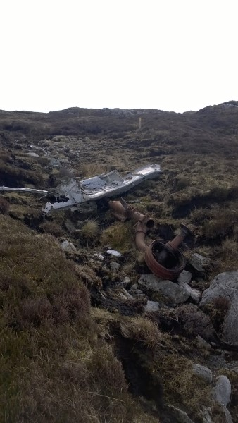 Crash site of B-24D 42-72851 on Li a Tuath, Lochmaddy, North Uist