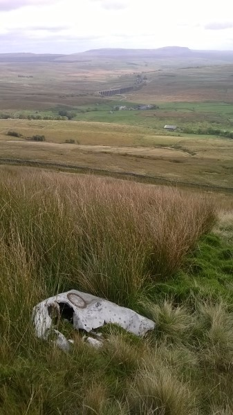 Fuel tank at the crash site of Fairey Barracuda DR306 on Whernside, North Yorkshire
