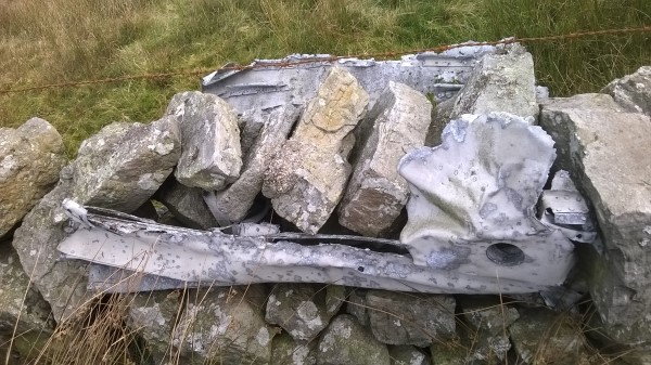 Wreckage from Fairey Barracuda DR306 on Whernside, North Yorkshire