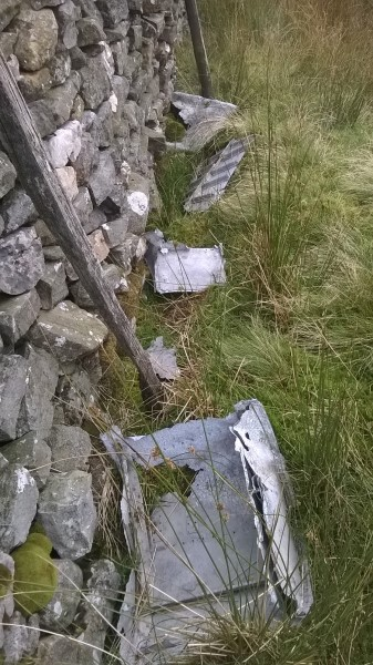 Wreckage from Fairey Barracuda DR306 on Whernside, North Yorkshire.