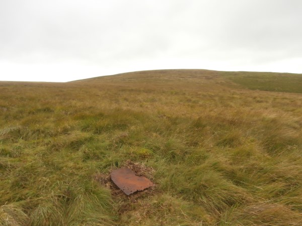 The crash site of Bristol Beaufort Mk.I DX118 on Brownhart Law, Cheviot Hills, Northumberland