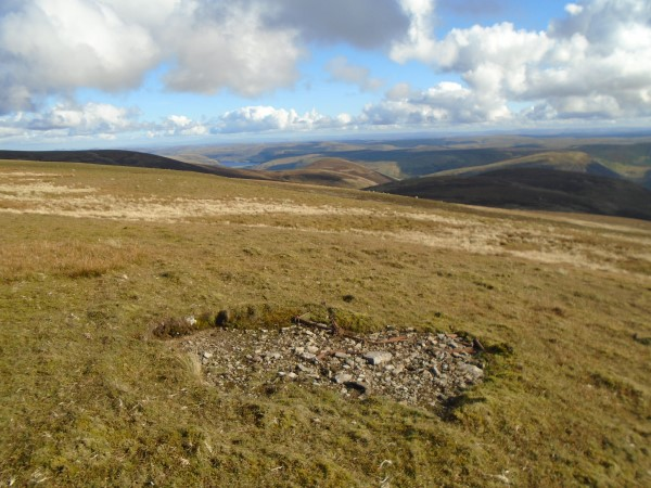 Crash site of de Havilland Moth G-ACGD on Broad Law, Scottish Border