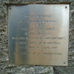 Memorial at the crash site of Piper Cherokee G-AZSE on Sheabhal, Isle of Barra