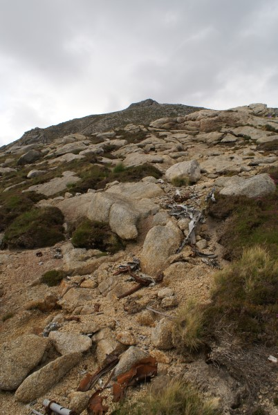 Crash site of Bristol Beaufort Mk.I L4479 on Goat Fell, Isle of Arran