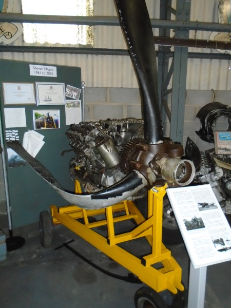 The Rolls Royce Merlin from N1766 at Aeroventure, Doncaster
