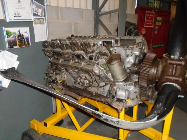 A second photograph taken ofthe engine from N1766 on display at Doncaster in 2016.
