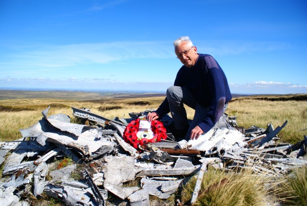 Crash site of Boulton Paul Defiant N3378 at Near Bleaklow Stones, Derbyshire