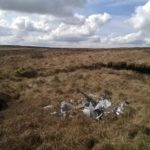 Crash site of Mustang Mk.III SR411 on Wives Hill, Darwen Moor
