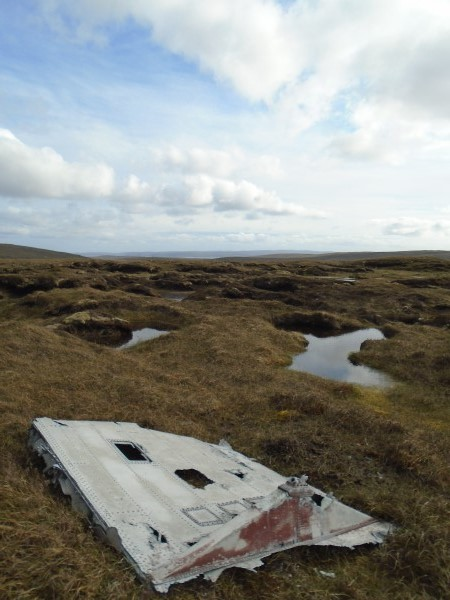 crash site of Catalina Z2148 on Willa-mina Hoga, Isle of Yell, Shetland
