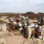 Wright Cyclone engines at the crash site of RB-29A 44-61999 close to Higher Shelf Stones, Bleaklow