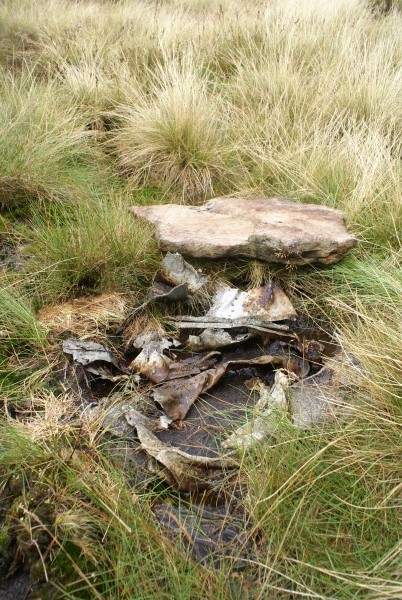 Crash site of Supermarine Spitfire K9888 on Great Dun Fell, Appleby, Cumbria