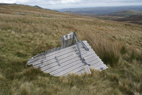 Wreckage from Armstrong Whitworth Whitley Mk.V BD232 near the crash site on Foel Fras, Conwy