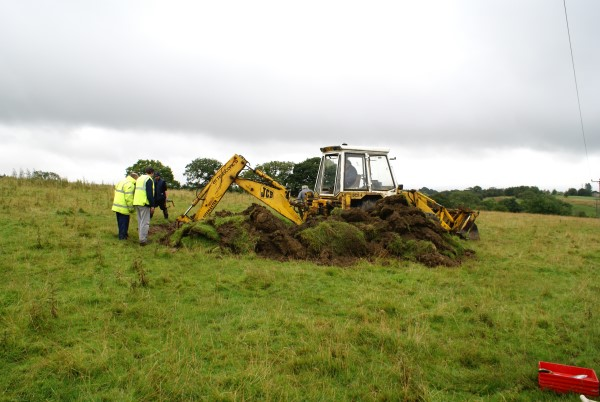 Excavation of the crash site of North American Mustang Mk.III FX931 at High Bentham, North Yorkshire