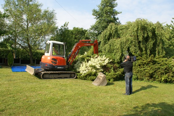 Removing the plants from the crash site of Mustang KH838 at Wrightington, Lancashire