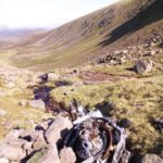 Armstrong Siddeley Cheetah engines from Oxford HM724 on Braeriach in the Cairngorm Mountains