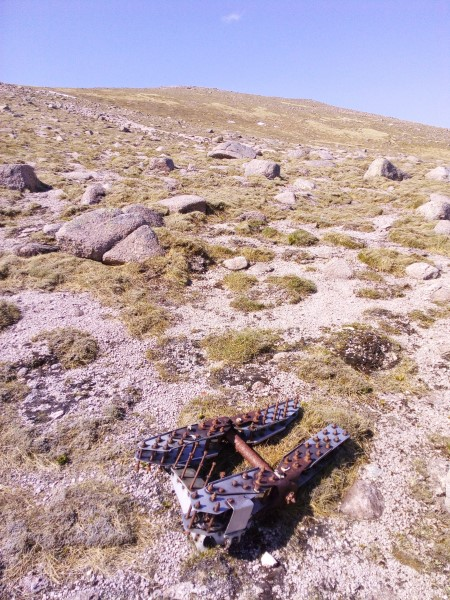 Wreckage at the crash site of Oxford HM724 on Braeriach