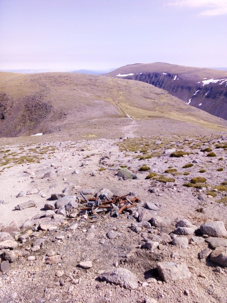 Crash site of Airspeed Oxford HM724 on Braeriach in the Cairngorm Mountains