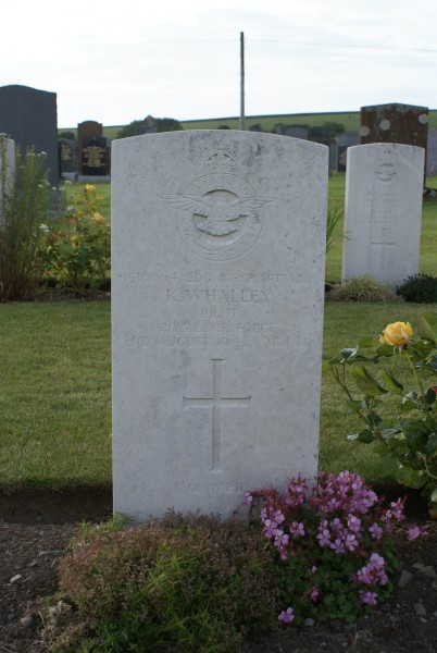 Grave of Leading Aircraftman Kenneth Whalley at Kirkinner Cemetery, Dumfries and Galloway