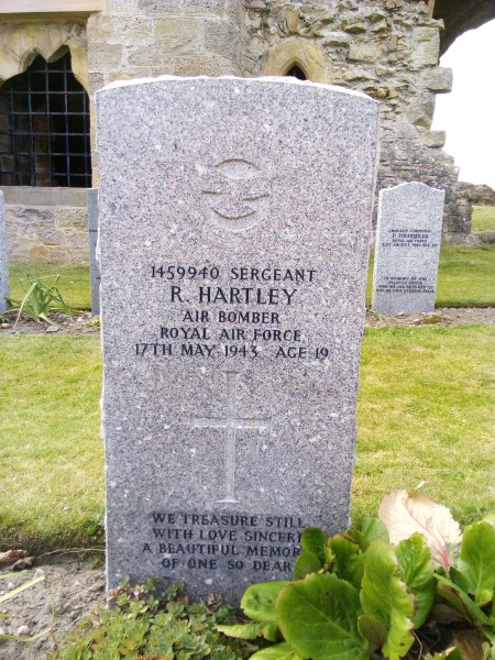 Grave of Sergeant Ronald Hartley at Kinloss Abbey