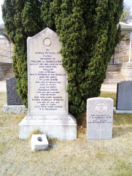 Grave of Sub Lieutenant Thomas Alexander Oliphant, Royal Navy, killed in Grumman Wildcat JV404
