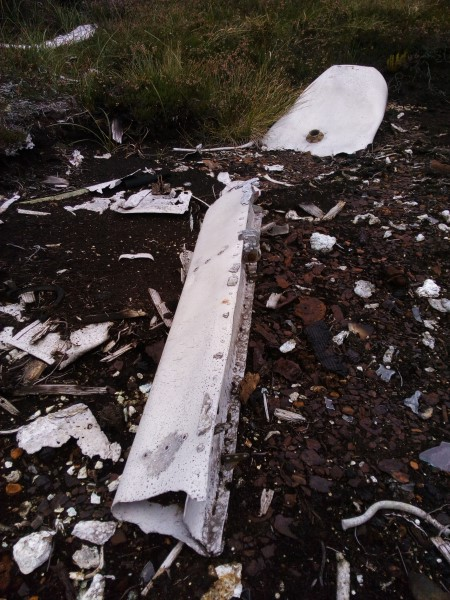Crash site of Avro Anson R9583 on Carn nan Tri-tighearnan, Moy, Inverness