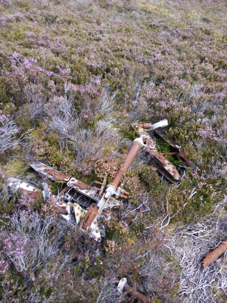 Crash site of Airspeed Oxford Mk.2 V3910 on Maol an Taillier, Nairn, Highland