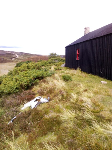 Bothy close to the crash site of Sea Hawk WM986, Allt Bad na Staing