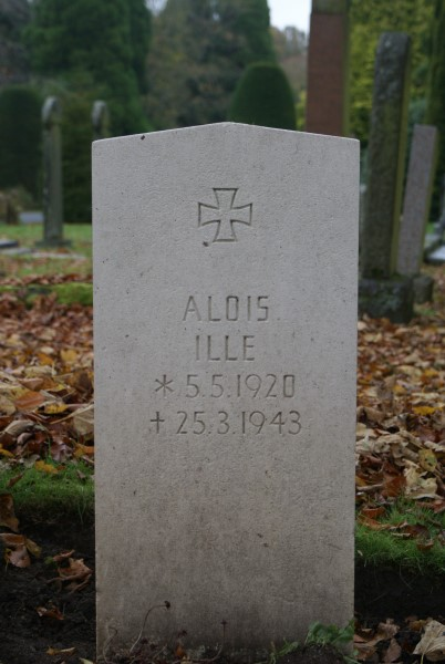 Grave of Unteroffizier Alois Ille at Carlisle Dalston Road Cemetery