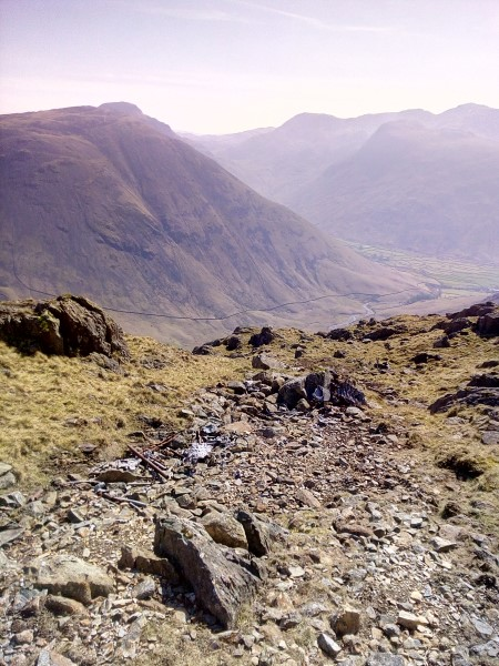 Crash site of Hawker Hector K8096 on Red Pike, Wasdale, Cumbria