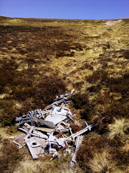 Crash site of Vickers Wellington Mk.IA L7775 on Bruach Mhor, Beinn a'Bhuird, Aberdeenshire