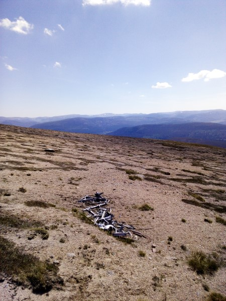 Wreckage from Vickers Wellington Mk.IA L7775 on Bruach Mhor, Beinn a'Bhuird, Aberdeenshire