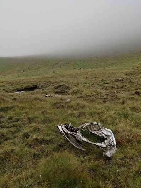 Crash site of B-17G 44-83325 on Beinn Edra, Isle of Skye