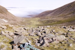 Section of wing from Blenheim Z7356 in Coire Beanaidh on Braeriach