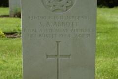 Flight Sergeant Stanley Arthur Abbott's grave