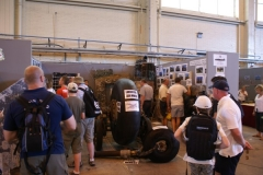 Display of wreckage from Lancaster PD259 at the 2009 Waddington Air Show