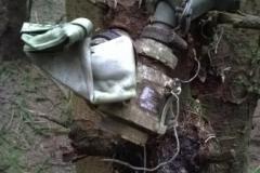 Wreckage at the crash site of SEPECAT Jaguar XX732 on Lamblair Edge, Hawick