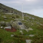 Memorial at the crash site of Boeing B-17G 43-38856 on North Barrule, Isle of Man