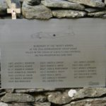 Memorial plaque below the crash site of B-17 44-8639 on Craig Cwm Llwyd, Copyright - Peak District Air Accident Research