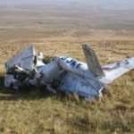 Wreckage of Cessna 152 G-BJKY on Ingleborough, Yorkshire - Crash Site