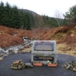 Memorial close to the crash site of Panavia Tornado ZG708 in Glen Ogle near Killin