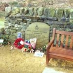 memorial close to the crash site of Vickers Wellington BK387, Oakworth, Yorkshire