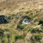Wreckage at the crash site of Barracuda DR306 on Whernside, Ribblehead, Yorkshire