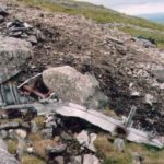 Wreckage at the crash site of He111 1T+EL on Llwydmor