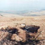 Crash site of Vickers Wellington HE466 on Foel Grach in the Carneddau area of Snowdonia