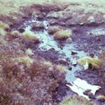 Wreckage at the crash site of Bristol Beaufighter JM223 on Croglin Fell, Penrith, Cumbria