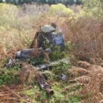 Memorial at the crash site of Hawker Typhoon JR439 near Dunharberry