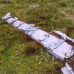 Wreckage at the crash site on Foel Wen of Bristol Blenheim Mk.IV L4873