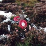 Crash site of Handley Page Halifax LW334 on Black Hambleton near Osmothery, North Yorkshire