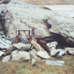 Wreckage near Ffynnon Lloer from Avro Anson Mk.I N9855