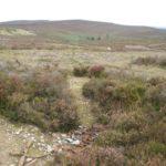 Crash site of Beaufighter NE203 near Worlds End, Llangollen